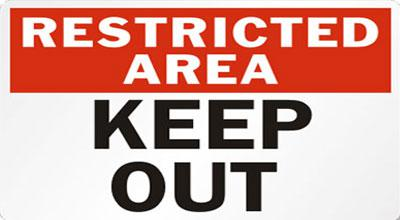 Restricted Area Image